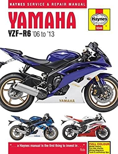 yamaha yzf r6 06 13 haynes powersport haynes publishing rh amazon com 2006 yamaha r6 service manual 2004 Yamaha R6