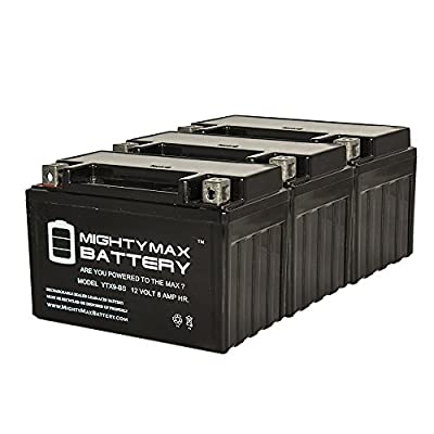 YTX9-BS SLA Battery for Honda TRX 125 250 Sportrax Fourtrax - 3 Pack - Mighty Max Battery brand product