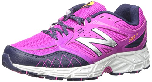 New Balance Women's WT510V3 Trail Shoe, Azalea/Abyss Silver, 6.5 B US