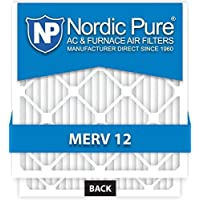 Nordic Pure 20x25x1 AC Furnace Air Filters MERV 12, Box of 6 by Nordic Pure