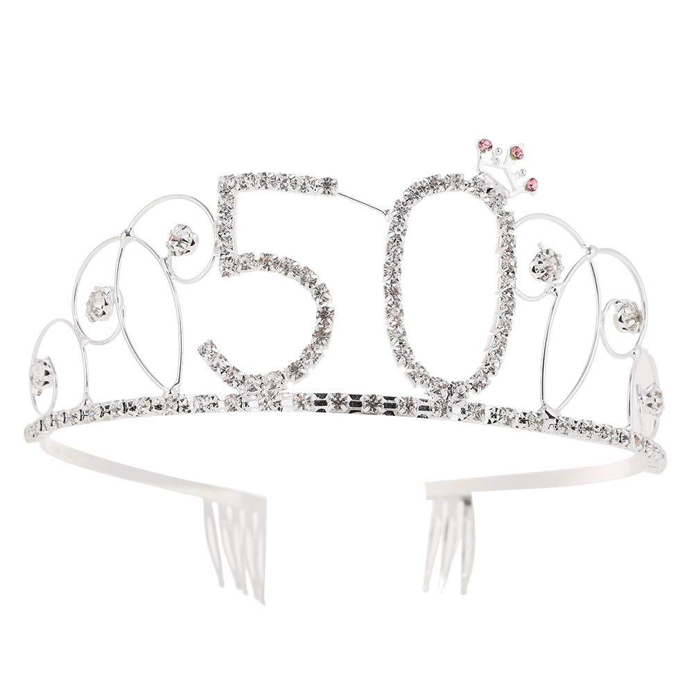 MCUILEE Cristal Corona de Novia Corona de Cumpleaños con ...