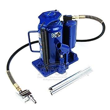[TT6520] - Gato hidráulico neumático, con botella de aire hidráulico (20 t, TÜV), para coche y camión: Amazon.es: Coche y moto