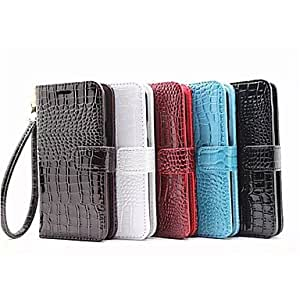 SHOUJIKE Crocodile PU Leather Full Body Cover with Card Slot for Samsung Galaxy E7 (Assorted Colors) , Black