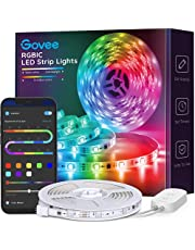 Govee RGBIC LED Strip Lights Waterproof, 16.4ft Bluetooth LED Light Strip with App Control, 64 Scene Modes, Music Sync, Easy Installation Color Changing LED Strip Lights for Bedroom, Kitchen, Party, Living Room