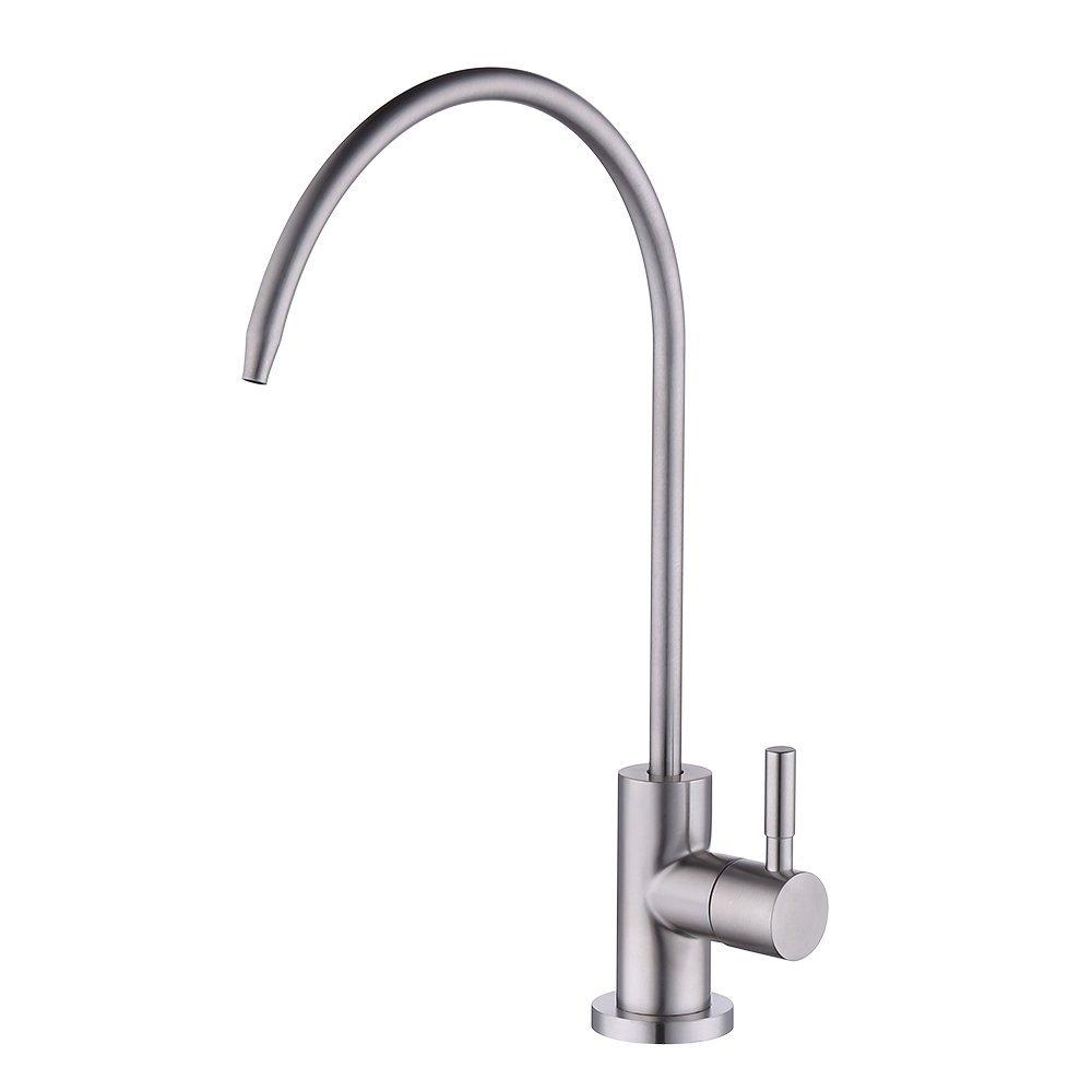 KES RO Water Filter Faucet Kitchen Bar Sink 304 Stainless Steel Drinking Water Faucet Brushed Nickel, Z501C