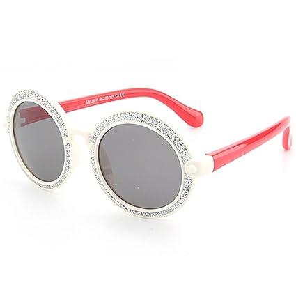 Brillante Forma Redonda Gafas de Sol para niños Flexible Gel ...