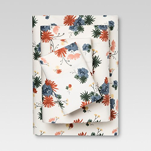 Threshold 100% Cotton Printed Flannel Sheet Set - Multi Floral - Target Sheets Flannel