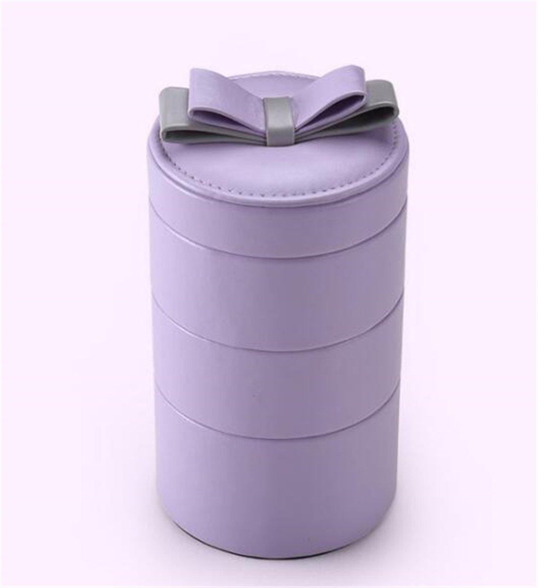 Tmrow 1pc Jewelry Box Organizer Mirrored Travel Jewelry Storage Case Gift for Women Teen Girls in Purple by Tmrow