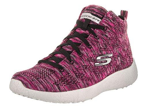 Skechers Burst, Baskets Basses Femme rose/noir