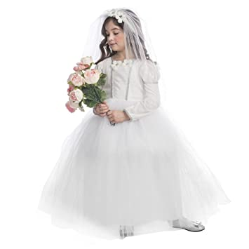 33df9df574ac6 Dress Up America Costume de princesse nuptiale Jolie petite robe de mariée  pour les filles