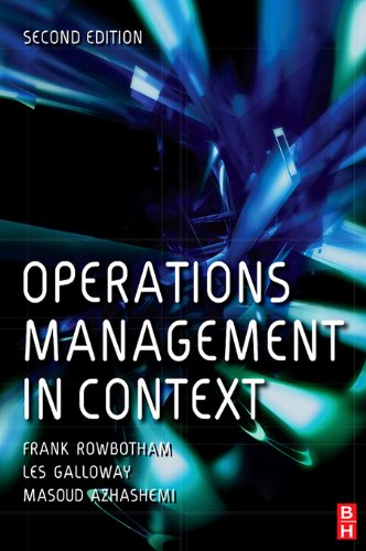 Download Operations Management in Context Pdf