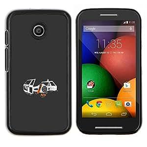 Estrella Guerra de combate- Metal de aluminio y de plástico duro Caja del teléfono - Negro - Motorola Moto E / XT1021 / XT1022