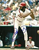 Bake McBride Autographed Photograph - 8x10 W COA AT BAT - Autographed MLB Photos