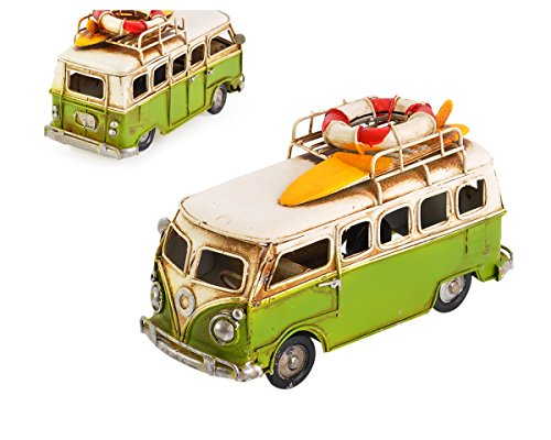 Ace Select Toy Camper Van 6.3 Inches Worn Style Retro Metal Classic T1 Camper Van Beach Bus Toy Model - Ideal Birthday Surprise for Boyfriend