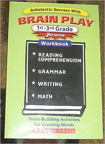 Brain Play 1st 3rd Grade Workbook Math Reading Writing Grammar