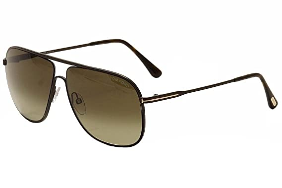 21c1ead363 Tom Ford Men FT0451 DOMINIC 60 Brown Red Sunglasses 60mm at Amazon ...