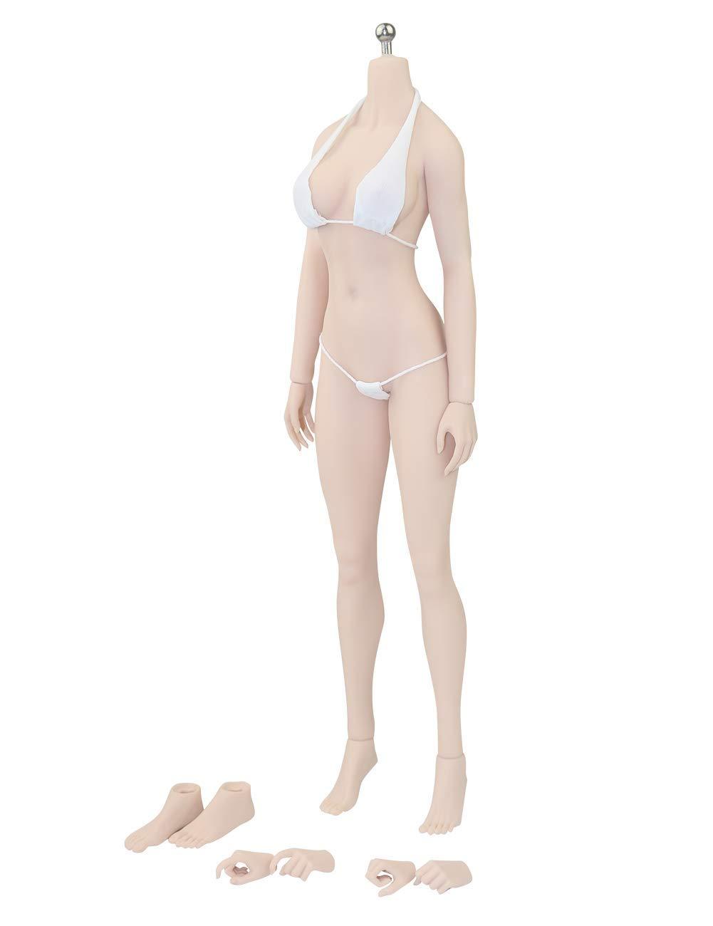 Phicen 1/6 Asia Female Seamless Body with Metal Skeleton Pale Skin Tones PLMB2018-S24A