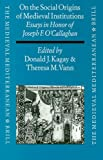 On the Social Origins of Medieval Institutions : Essays in Honor of Joseph F. O'Callaghan, , 9004110968