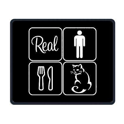 Amazon.com: Reales hombres comer Pussy! Cojín de goma para ...