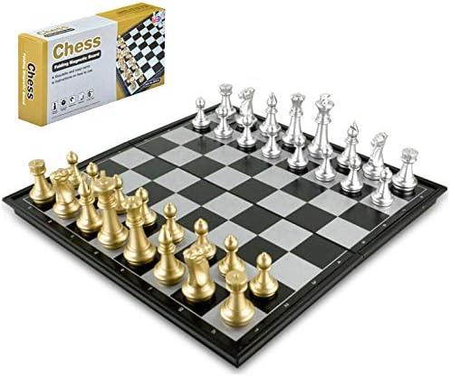 Ajedrez magnetico Plegable, Juego de ajedrez de Rompecabezas, Fácil Llevar para Viajar Juego Ajedrez para Niños (Oro / Plata) (25*25*2cm): Amazon.es: Juguetes y juegos