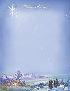 Wondrous Light Christmas Stationery Paper - 80 Sheets