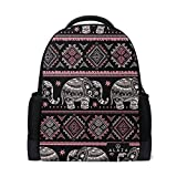 My Daily African Tribal Ethnic Elephant Backpack 14 Inch Laptop Daypack Bookbag for Travel College School