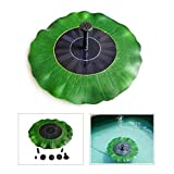 Etboyu Outdoor Lotus Leaf Solar Powered Floating Fountain for Pond Garden Decoration