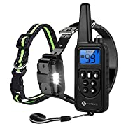 #LightningDeal Slopehill Dog Training Collar, Waterproof Dog Shock Collar with 2600Ft Remote, Rechargeable Dog Collar with Vibration, Beep Shock Modes, Adjustable 0 to 99 Shock Levels Dog Training Set