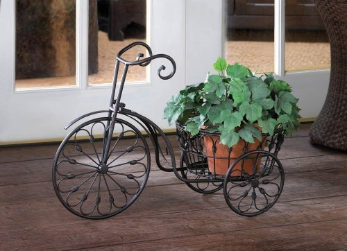 Iron Tricycle (WROUGHT IRON Tricycle PLANT STAND Bicycle PLANTER POT)