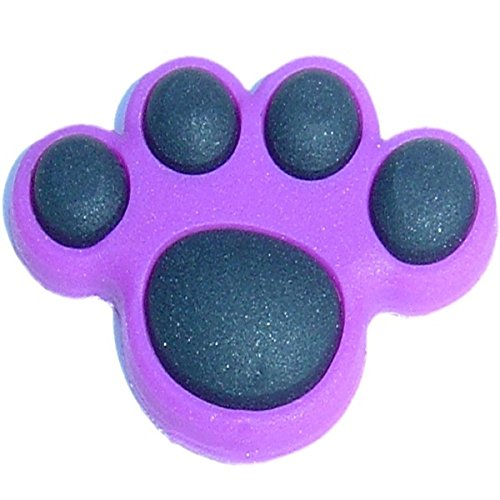 - Purple Paw Shoe Rubber Charm for Wristbands and Shoes