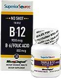 Superior Source No Shot Triple B12 9000 mcg B6-Folic Acid 800 mcg -- 30 Instant Dissolve Tablets - 3PC