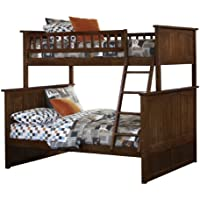 Nantucket Bunk Bed, Twin Over Full, Antique Walnut