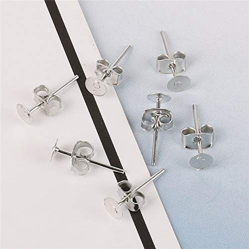 Iron Silver Gold Plated Butterfly Scroll Stopper Earrings (100 Sets ()