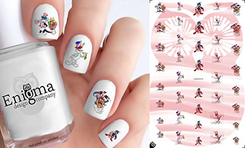 Looney Tunes 4th of July Accessories (Clear Vinyl, Peel & Stick Nail - Pig Toons Looney