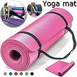 Non-Slip yoga mat 10mm thick NBR Gym home mat exercise mat sport mat-183 * 61cm-PINK