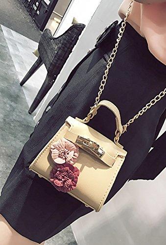 Khaki Shoulder Crossboday Clutch QZUnique Bag Flower Mini Handbag Chain Girls Purse Flower qHHBtPFx