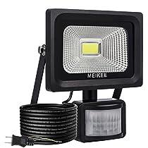 MEIKEE 改良版防犯センサーライト 屋外 人感防水 10w 超高輝度1,...