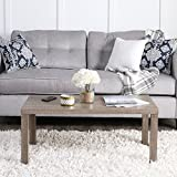 WE Furniture 3-Pack Wood Coffee Table Set, Driftwood