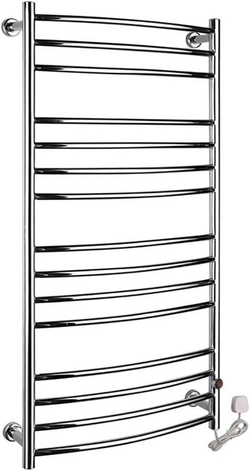 FACAIA Towel Warmer, Home Bathroom 15 Bar Stainless Steel Space Saving Wall Mounted Cloth Towel Heated Drying Rack, 198 Watt, 47.2 Inch X 23.6 Inch,Hardwire