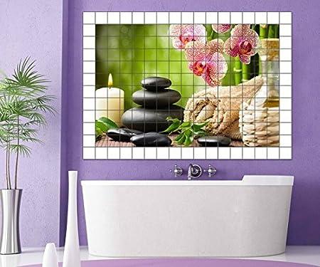 Wellness wallpaper hochkant  Amazon.de: Wellness Orchidee Fliesenaufkleber 15 25 20 cm ...
