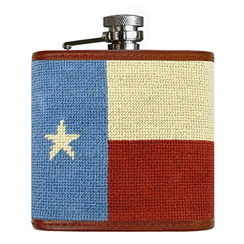 Vintage Texas Flag Needlepoint Flask by Smathers & Branson