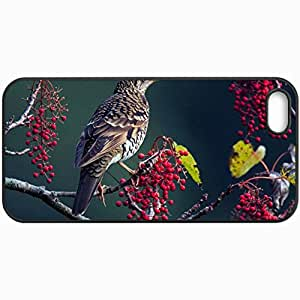 Fashion Unique Design Protective Cellphone Back Cover Case For iPhone 5 5S Case Berries Black