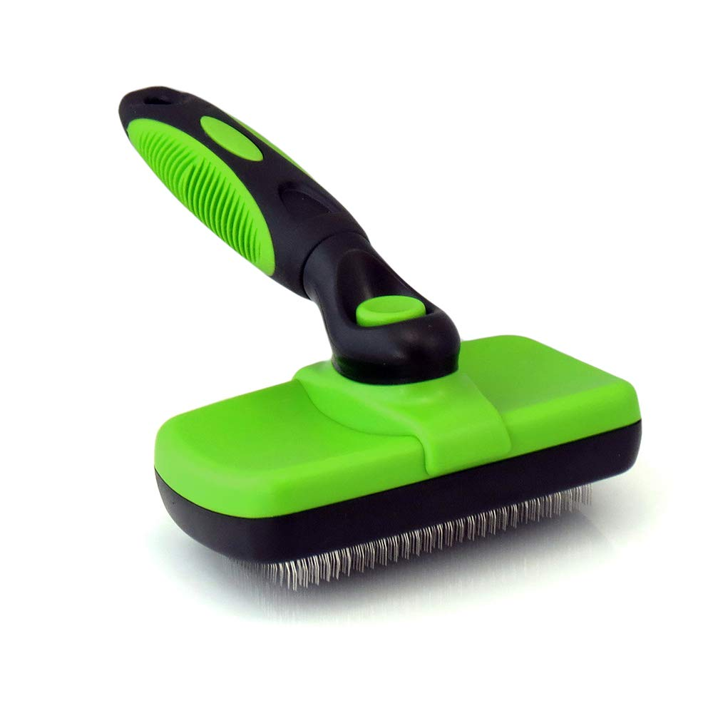 Dog and Cat Hair Brush Easy Self-Cleaning Button Removes All Hair,Tangles,Cleans & Desheds Best Slicker Brush for All Pet Hair Types