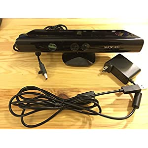 XBOX 360 Microsoft Kinect Sensor Bar Only Black 1414 Wired Motion Sensor Camera