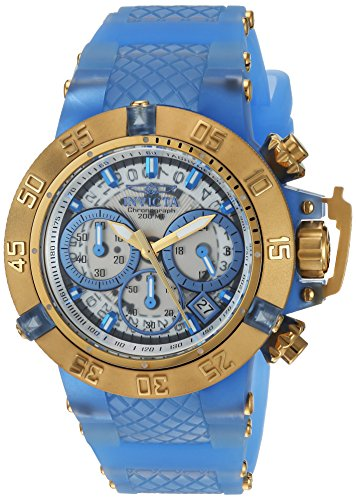 Invicta Women's 'Subaqua' Quartz Stainless Steel and Silicone Casual Watch, Color:Two Tone (Model: 24377)