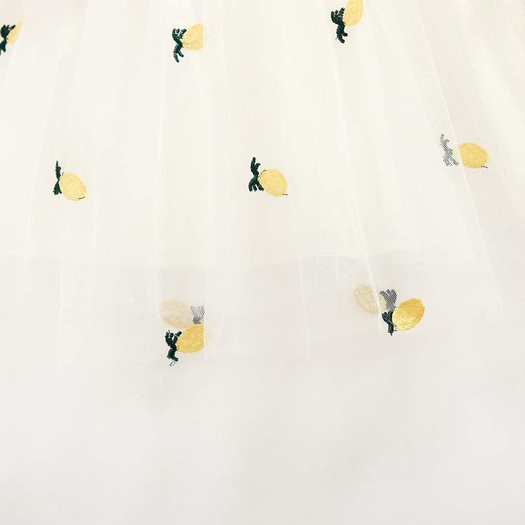 Obestseller M/ädchenbekleidung Baby Langarm Top M/ädchen Rock Baby Oberteil Baby m/ädchen Kleider Kleinkind Kinder Baby M/ädchen Langarm T/üll Obst Tasche Prinzessin Kleid Outfit Kleidung