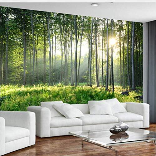 Jason Ming カスタム写真の壁紙3D緑の森自然風景壁画リビングルームの寝室の背景壁カバー現代の家の装飾3 D-250X175Cm
