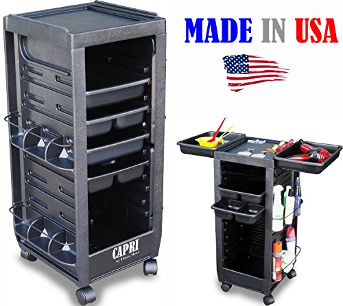 C113 Grooming Cart Black Assembled Non Lockable Made in USA by Dina Meri