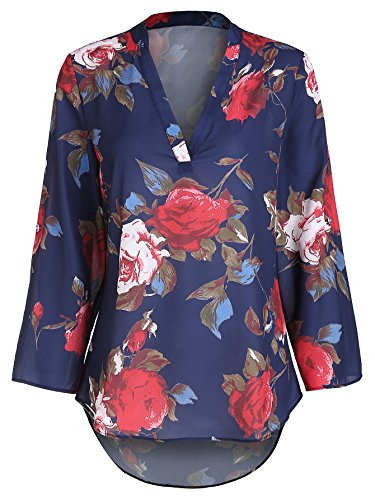 SheIn Womens Floral Printed Blouse