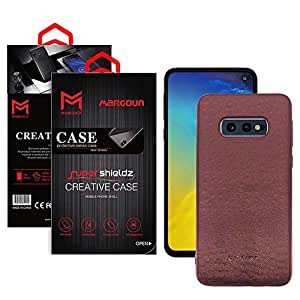 G-Case for Samsung Galaxy S10e (5.8 inches) Cloth Leather Cover Case - Maroon